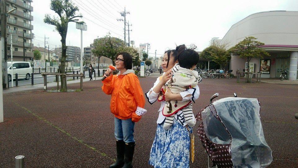 【91本目】ママ達のベビーカー遊説